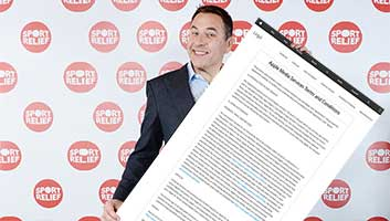 Daivd Walliams to read iTunes terms and conditions for Comic Relief