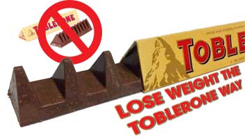 Lose weight the Toblerone