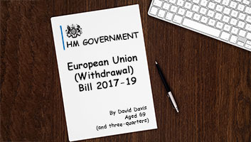 Brexit bill converted to Comic Sans