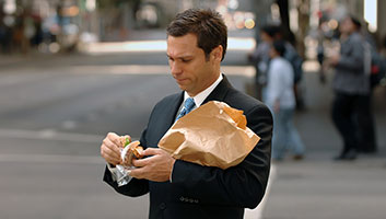 Man unhappy with choice of sandwich