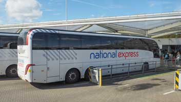 NAtional Express bullet coach