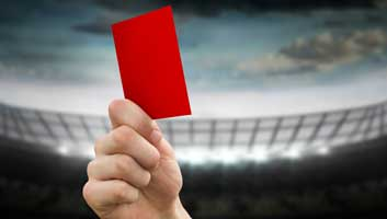 Jamie Vardy red card