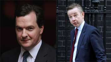 Gove and Osborne to fight with hammers