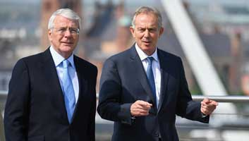 Tony Blair and John Major