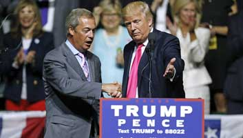 Donald Trump books Nigel Farage for his inauguration