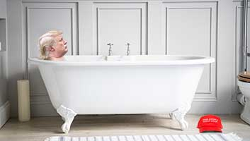 Trump wanking in the bath