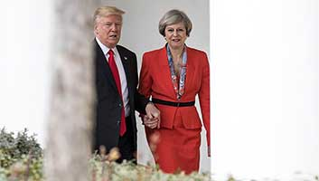Trump and Theresa May