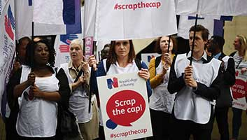 1% pay cap protest