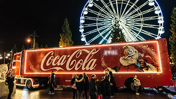 Coca cola lorry signals Christmas