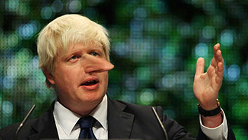 Boris Johnson nose growing