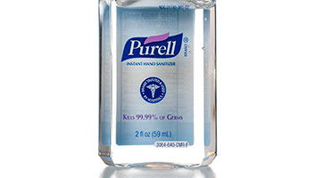 purell hand sanitiser 99.99% of germs